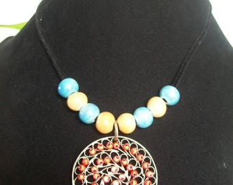 Necklace with Locket and ceramic