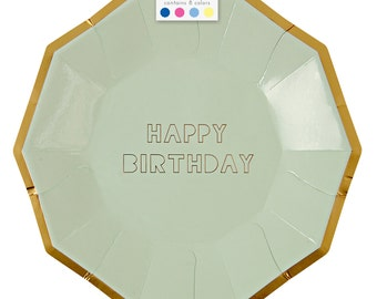 Happy Birthday Large Plate