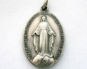 Large Vintage French Miraculous Medal