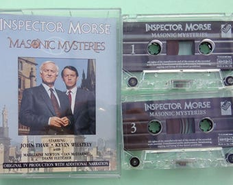 Audio Cassette Tapes - Inspector Morse 'Masonic Mysteries' by Colin Dexter - Original TV Production with Additional Narration - John Thaw