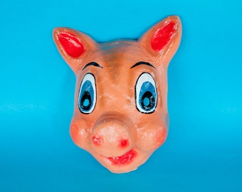 Traditional Mexican paper mache mask Pig