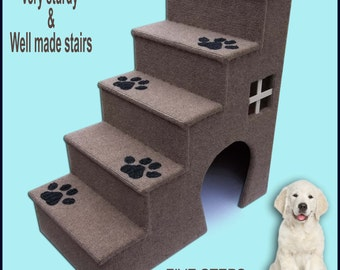 Attractive Dog Steps. Doggy Stairs.Pet Furniture, Dogs Furniture. 30 Inches Tall Wooden