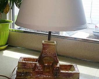 Mid Century Pueblo Lamp