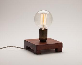 Edison lamp, reclaimed pine wood lamp, table lamp, edison bulb lamp, edison desk lamp, Christmas present, Gift for men, gift for wome