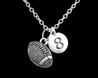 Football Number Necklace, Sports Mom Gift Necklace
