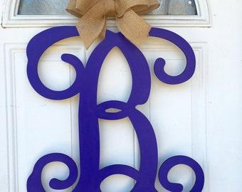 Monogram door hanger, single letter door hanger, door decor, door hanger, monogram, letter door hanger