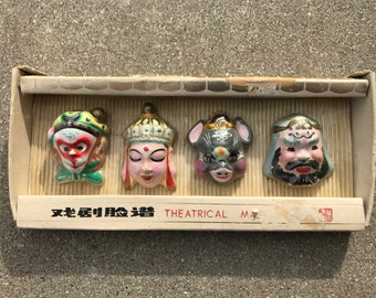 Ceramic Chinese Theater Mask Miniatures (Unopened)