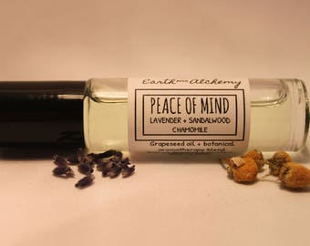Peace Of Mind -Aromatherapy Roll-On -Lavender + Sandalwood + Chamomile - Relaxing- Anti Anxiety - Calming