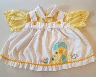 Vintage baby dress / blouse.  Bright and cheery