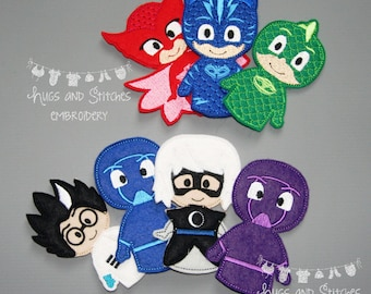 PJ Bedtime Finger Puppets (Including Villains)