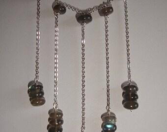 Labradorite on sterling silver, necklace