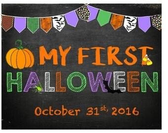 My First Halloween Chalkboard Sign! PDF/JPG Printable!