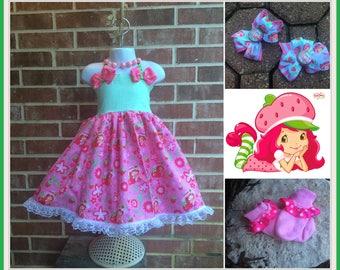 Strawberry Shortcake dress, Strawberry Shortcake outfit. Strawberry Shortcake Twirl