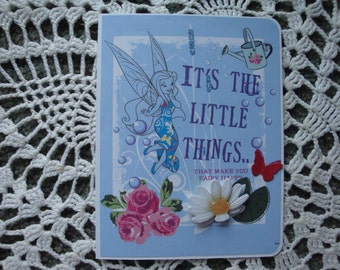 Disney Card, Fairy, It's the little things, Birthday, for girls, greeting card, handmade, 3 dimensional