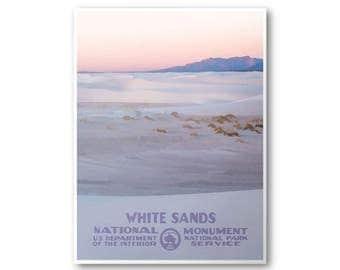 White Sands National Monument Travel Poster