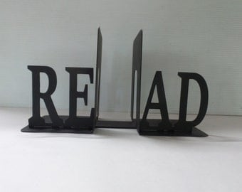 READ - Metal Bookends