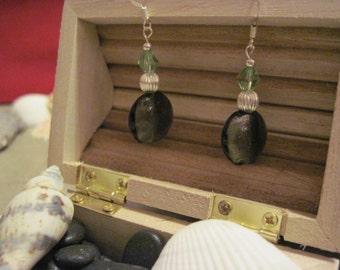 Green Crystal Shimmer Earrings