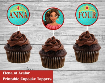 Elena of Avalor Cupcake Toppers, Elena of Avalor Favors