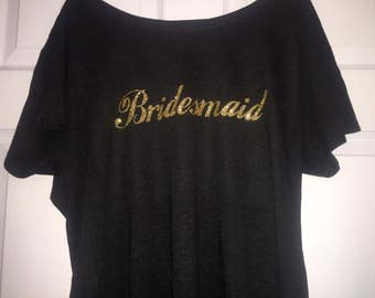 Bridesmaid oversized shirt. Bridesmaid tee shirt. Wedding shirts . Bridal party shirt. Bridesmaid dolman sleeve t-shirt. Weddings .