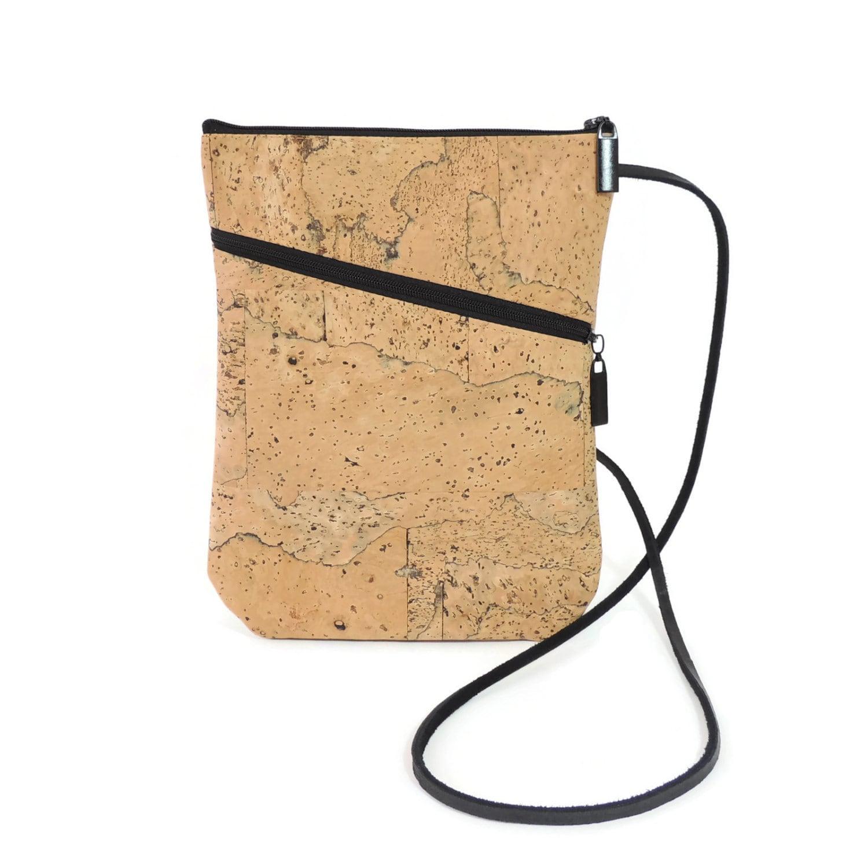 Cork Handbags: Cork Crossbody Bag Small Cork Shoulder Bag Vegan Bag Mable