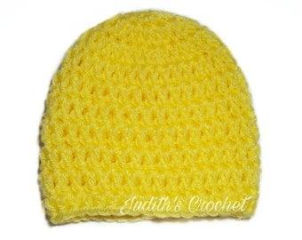 READY TO SHIP 0-3 mo. Lemon Hat