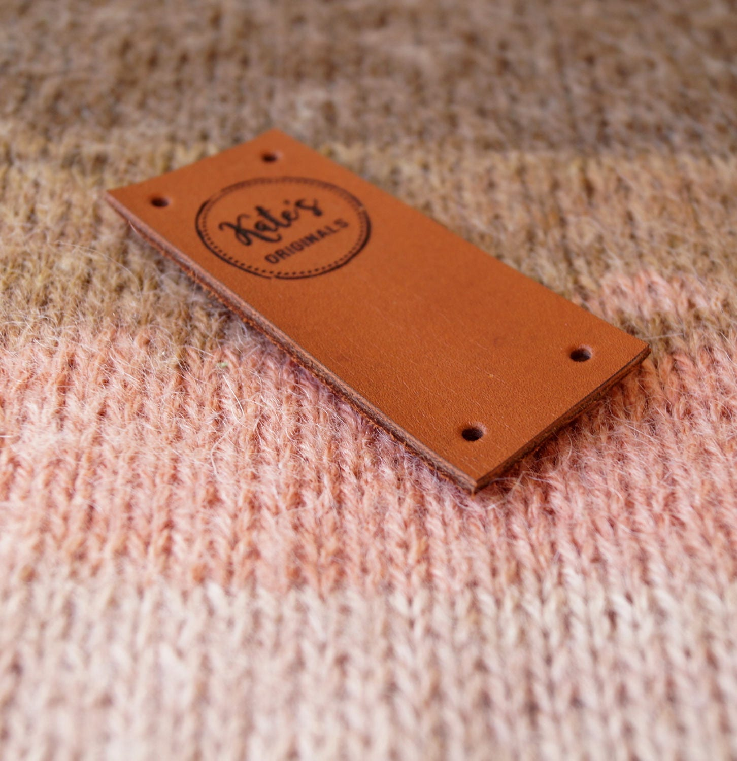 Knitting Labels Canada : Knitting labels folding leather center fold tags