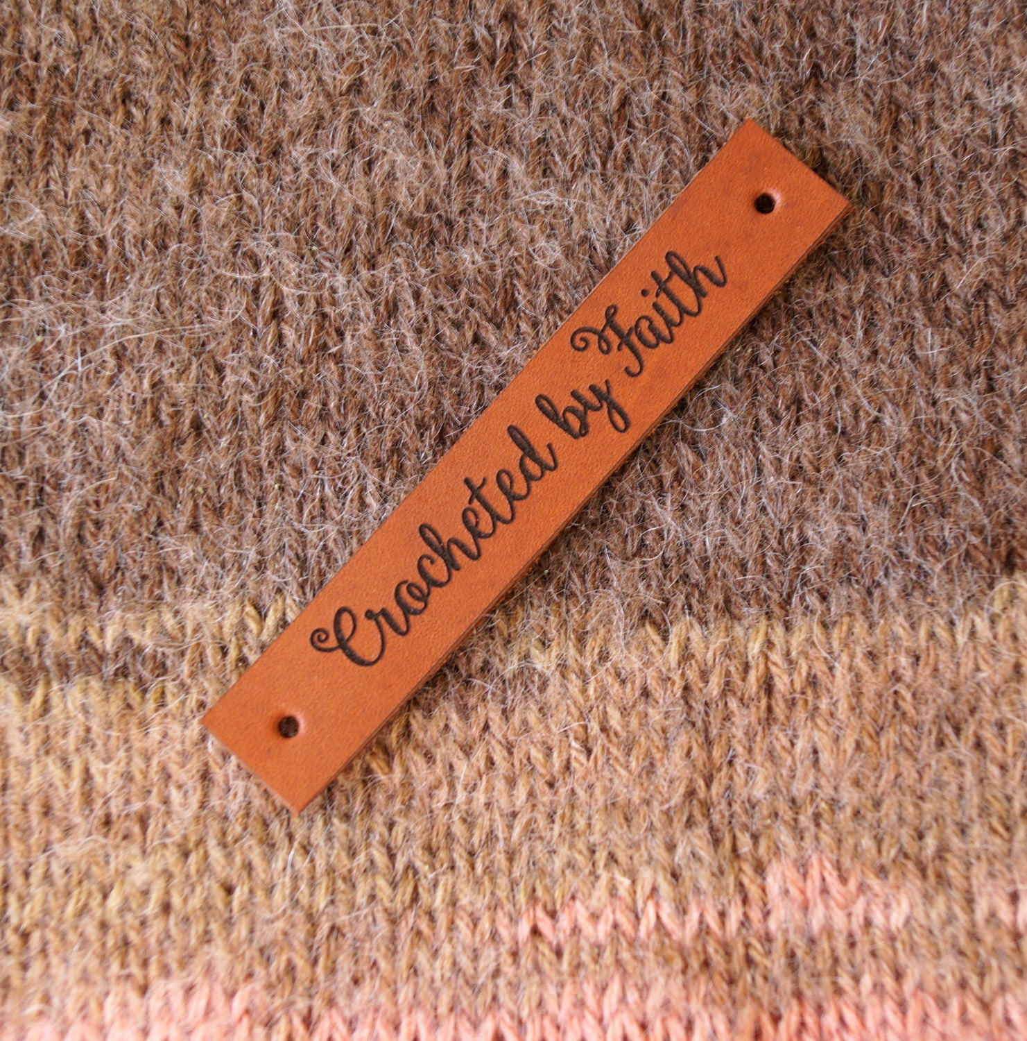 Knitting Labels Canada : Custom made leather labels personalized logo