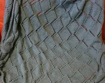 SALE - Comfy Diamond Blanket - Afghan