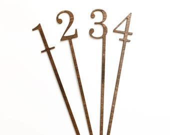 Classic Wood Table Numbers for Wedding or Special Event.