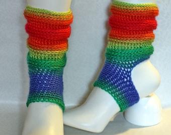 yoga socks pilates socks dance socks gradient color leg warmer Ahimsa
