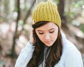 Slouchy Knit Beanie Hat // The WAFFLE BEANIE