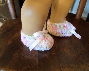 Doll Booties Hand Crocheted