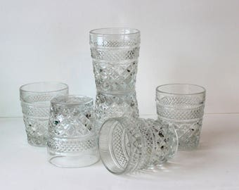 Anchor Hocking Wexford Old Fashioned Glass Tumblers Set of 6 On The Rocks Glasses
