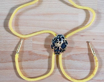 Vintage Bolo Tie with Square Dancing Motif