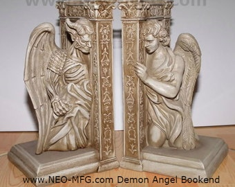 Angel Demon Book ends table sculpture decor www.NEO-MFG.com set of 2