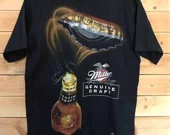 Miller Genuine Draft Shirt // Vintage Miller Shirt // Vintage Miller Brewing