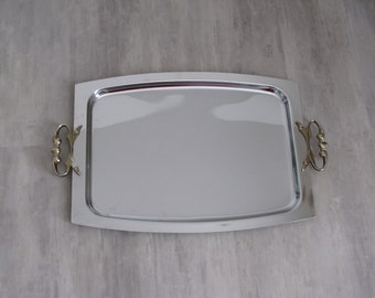 Vintage Kromex Chromium Serving Tray
