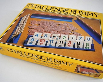 Vintage Challenge Rummy Game - 1981 - Western Publishing, No. 4819-22 - classic, fun, 2-4 players, complete, family, game night, adult, teen
