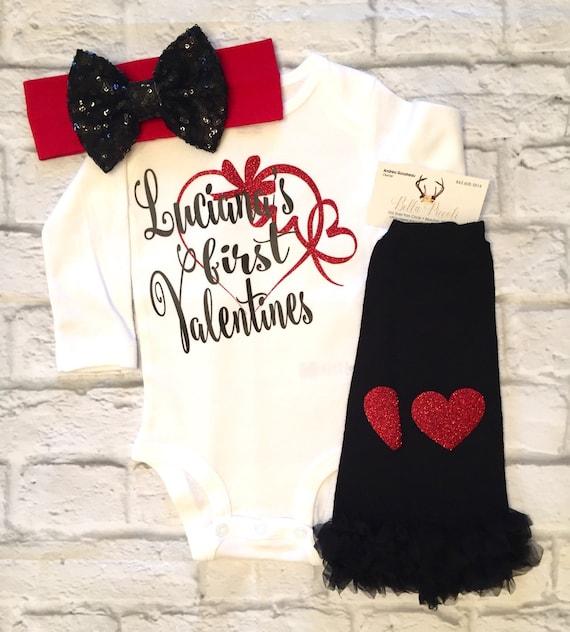Baby Girl Clothes Valentines bodysuit My First valentines