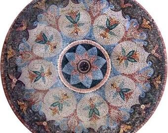 Medallion Flower Mosaic Art