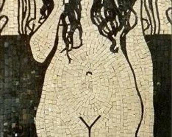 "Gustav Klimt  ""Nuda Veritas"" - Mosaic Reproduction"