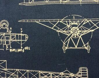 Vintage Blueprints Indigo by Savannah Lindsay for Robert Kaufman Fabrics