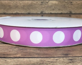 Polka dot Printed ribbon