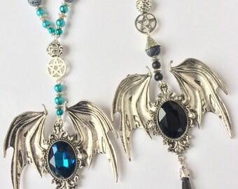 Batwings, bat jewelry, jewelry vampire, bat wings, gothic jewelery, witch jewelery, Gothic Necklace, Gothic pendant, Gothic Style, Goth