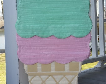 Ice Cream Birthday Party | Ice Cream Party | Mint and Pink Party | Ice Cream Pinata | Girl Birthday Party Decor