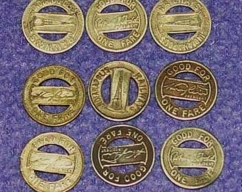 Vintage Roll Of 40 Tokens INDIANAPOLIS TRANSIT SYSTEM Railway