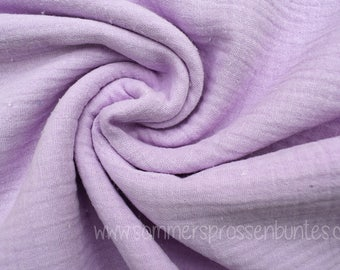 Muslin gauze fabric double gauze 100% cotton, lilac