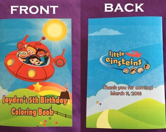 12 Personalized Little Einsteins Coloring Books / with Crayons, Party Favors