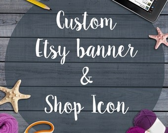Custom Etsy Banner - Custom Etsy Profile Picture - Custom Etsy Branding - Custom Etsy Business Set - Custom Etsy Shop Icon