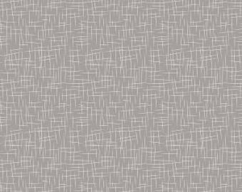 Fabric by the yard - Fat Quarter - Modern basic fabric - Hashtag Large in Gray by Riley Blake Designs - Gray basic fabric